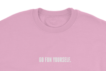 Load image into Gallery viewer, 9GAG slogan Go Fun yourself virgin pink sweater