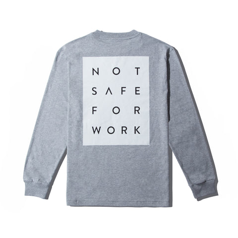 NSFW Long Sleeve Tee - Blocked Gray