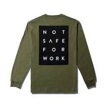 Load image into Gallery viewer, NSFW Long Sleeve Tee - Blocked Olive