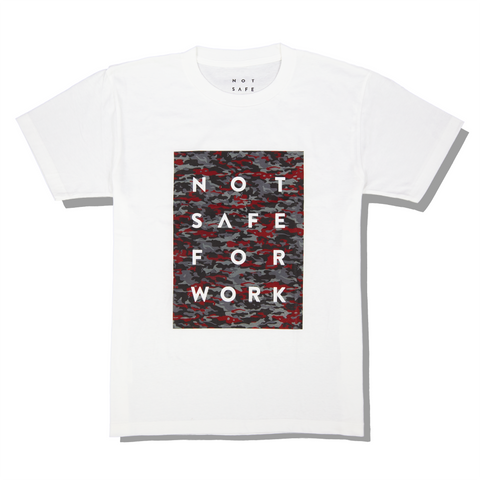 NSFW Blocked Red Camouflage Tee