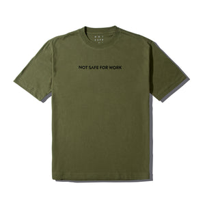 NSFW Tee - Linear Olive