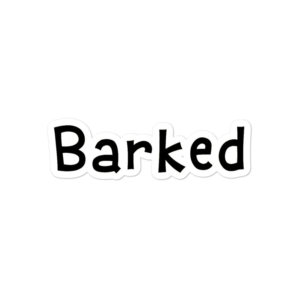 Barked Logo Sticker
