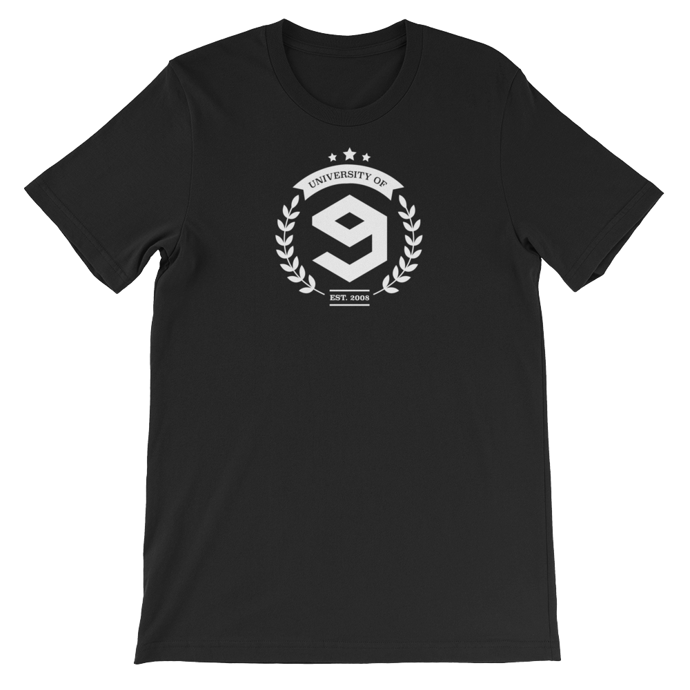 9GAG University Tee in ace black color for gag pro users