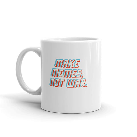 Make Memes, Not War Mug - 9GAG Shop