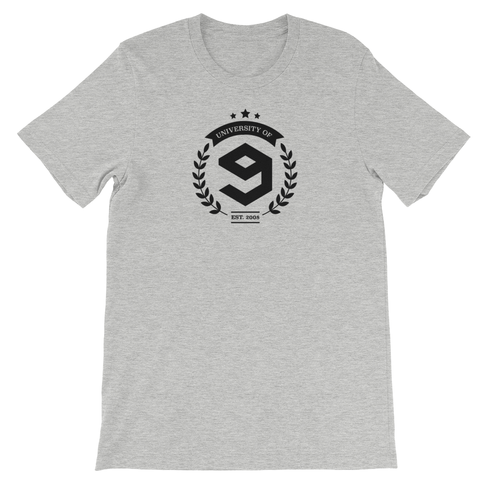 9GAG University Tee in Prof. Grey color