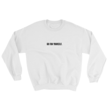 Load image into Gallery viewer, Go Fun Yourself Innocent white sweater from 9GAG Shop streetwear