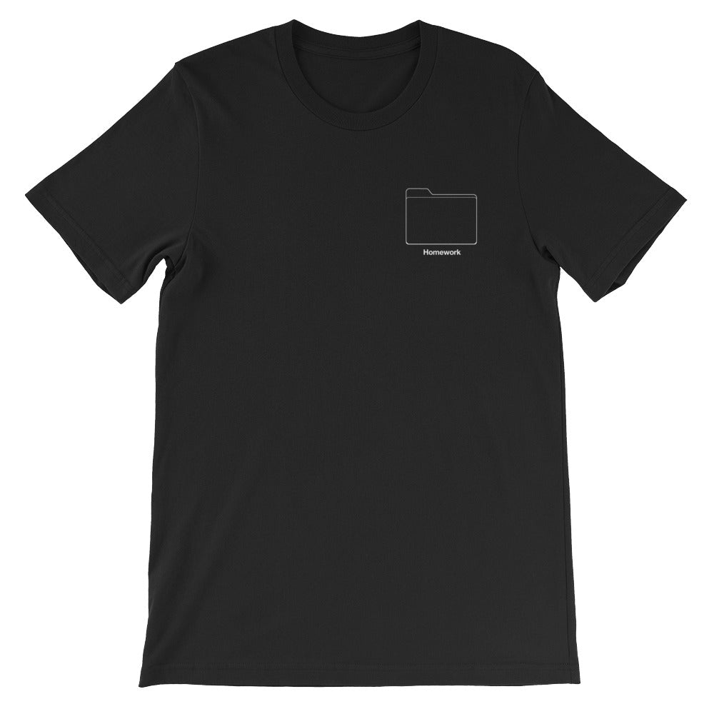 Homework Folder Tee in Ace Black color from 9GAG shop