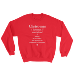 Christmas (Not November) Definition Sweater