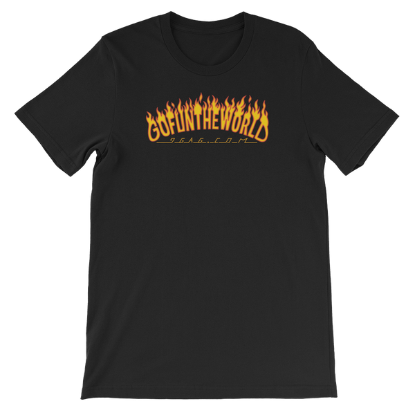 Go Fun The World In Flames Tee