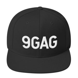 9GAG 3D puff embroidered logo black hat