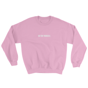 Go Fun Yourself virgin pink sweater from 9GAG Shop streetwear