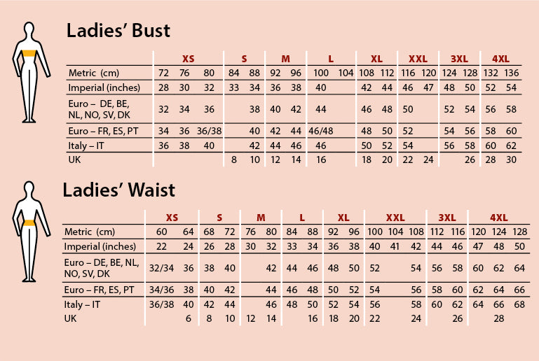 ladies sizing guide