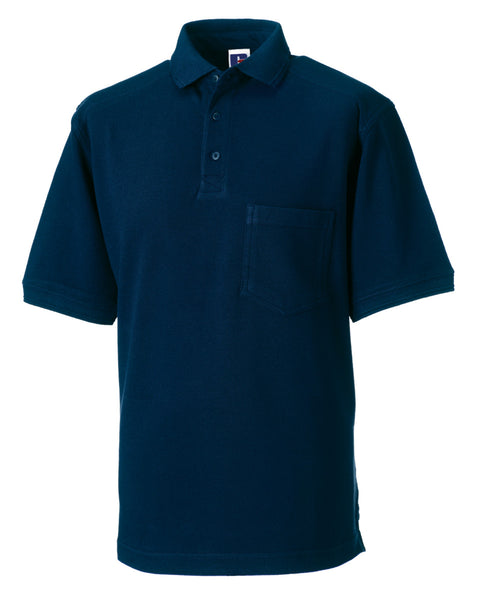 011M Russell Adult's Heavy Duty Cotton Polo
