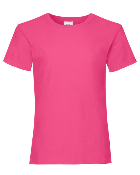 61005 Fruit Of The Loom Girl's Valueweight T-Shirt