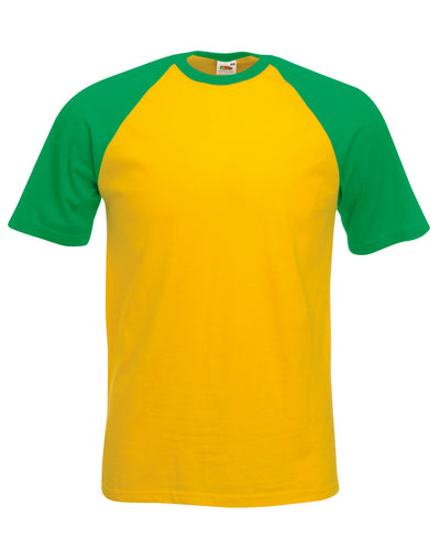 61026 Fruit Of The Loom Men's Valueweight Short Sleeve Baseball T-Shirt