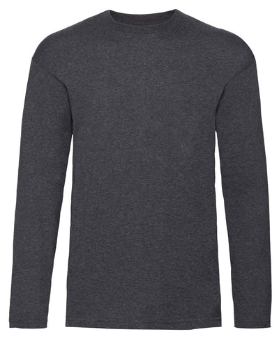61038 Fruit Of The Loom Men's Long Sleeve Valueweight T-Shirt