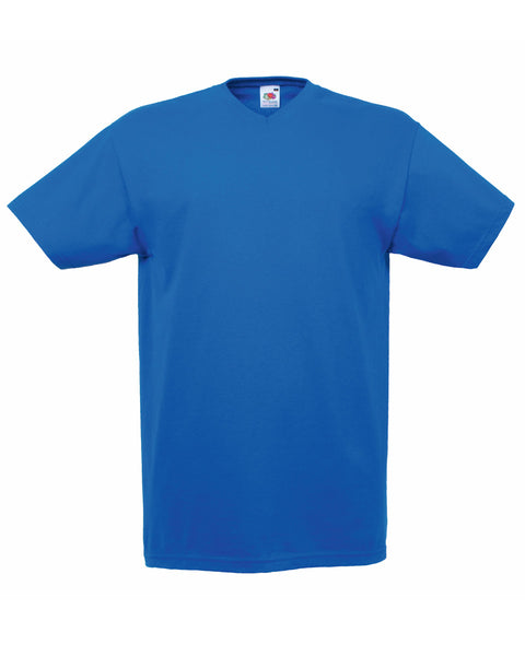 61066 Fruit Of The Loom Men's Valueweight V-Neck T-Shirt