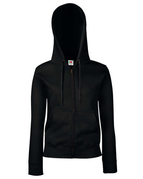 62118 Fruit Of The Loom Lady-Fit Premium Hooded Sweat Jacket