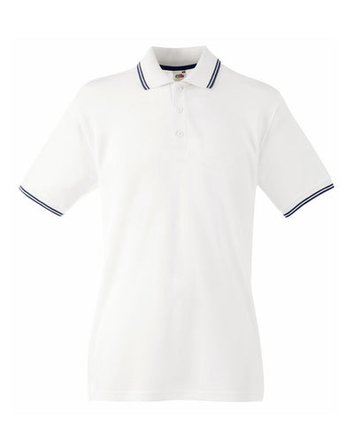 63032 Fruit Of The Loom Men's Tipped Polo
