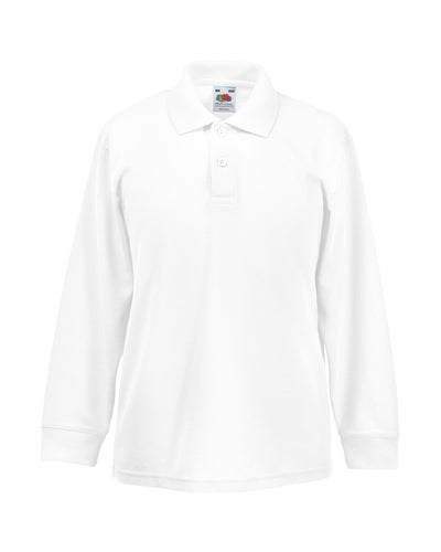 63201 Fruit Of The Loom Children's Long Sleeve 65/35 Polo