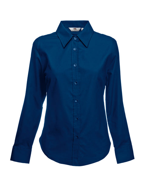 65002 Fruit Of The Loom Lady-Fit Long Sleeve Oxford Shirt