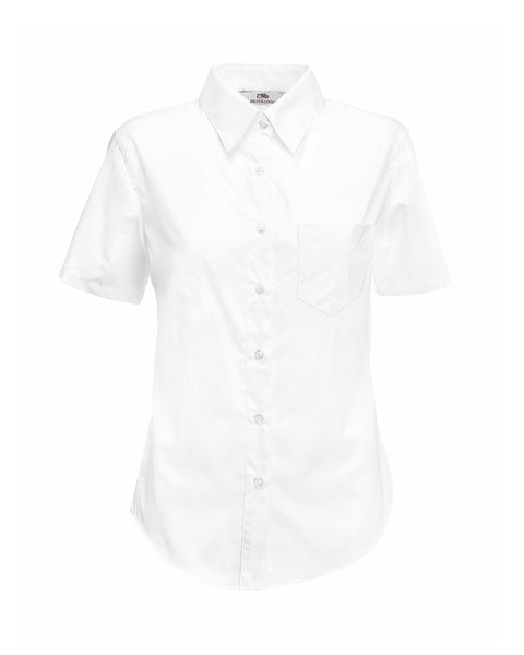 65014 Fruit Of The Loom Lady-Fit Short Sleeve Poplin Shirt