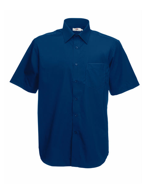 65116 Fruit Of The Loom Men's Short Sleeve Poplin Shirt