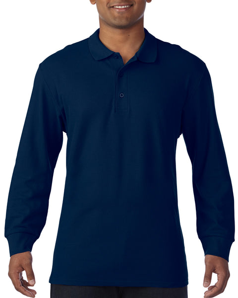 85900 Gildan Premium Cotton Adult Long Sleeve Double Piqué Polo