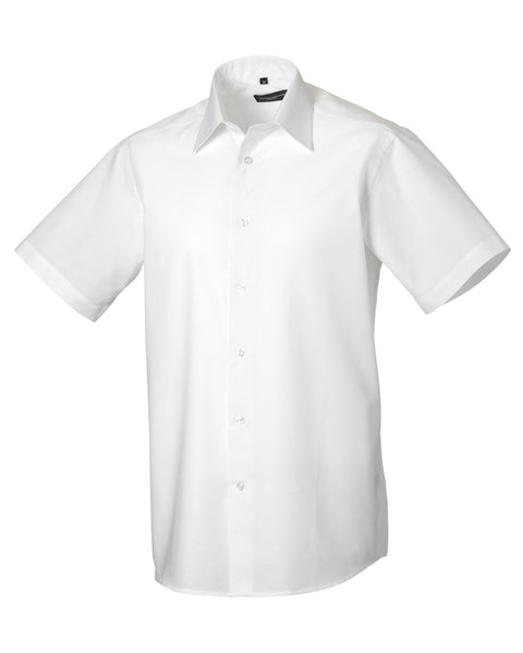 923M Russell Collection Men's Short Sleeve Easy Care Tailored Oxford Shirt