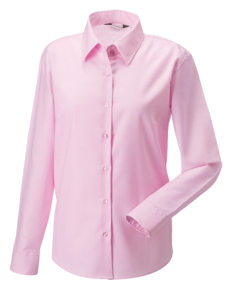 932F Russell Collection Ladies' Long Sleeve Easy Care Oxford Shirt