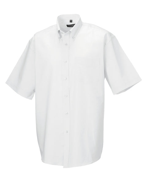933M Russell Collection Men's Short Sleeve Easy Care Oxford Shirt