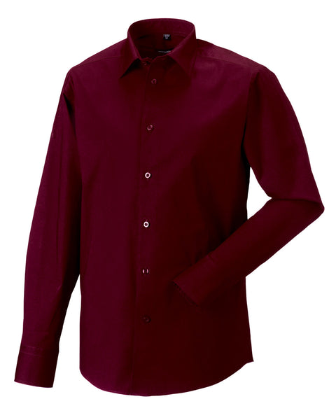 946M Russell Collection Men's Long Sleeve Easy Care Fitted Shirt