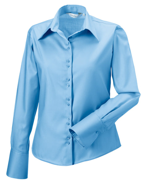 956F Russell Collection Ladies' Long Sleeve Ultimate Non-Iron Shirt