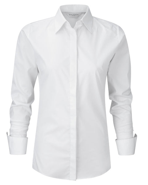 960F Russell Collection Ladies' Long Sleeve Ultimate Stretch Shirt
