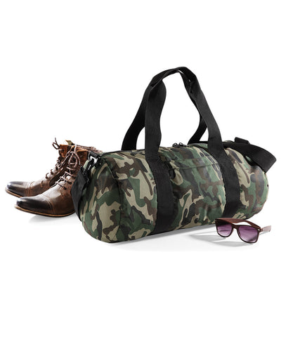 BG173 Bagbase Camo Barrel Bag