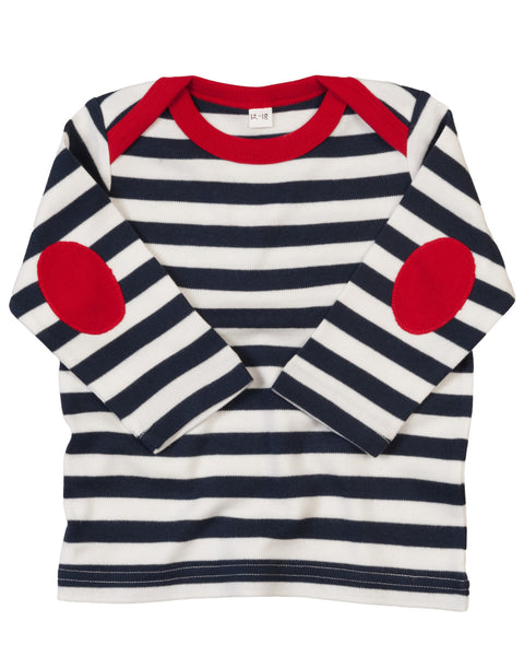 BZ38 Babybugz Stripy Long Sleeve T-Shirt