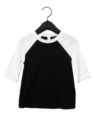 CA3200T Bella Toddler 3/4 Sleeve Baseball Tee