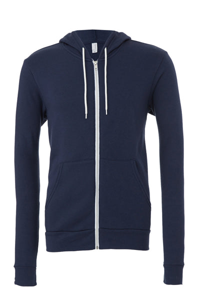 CA3739 Bella Canvas Unisex Polycotton Fleece Full-Zip Hoodie