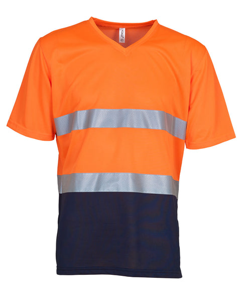 HVJ910 Yoko Hi-Vis Top Cool Weave V-Neck T-Shirt