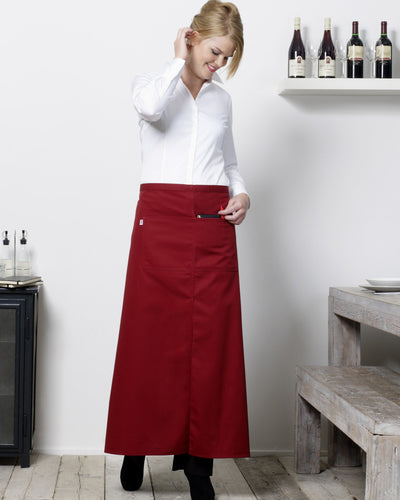 Bistro By Jassz Berlin Long Bistro Apron with Vent and Pocket