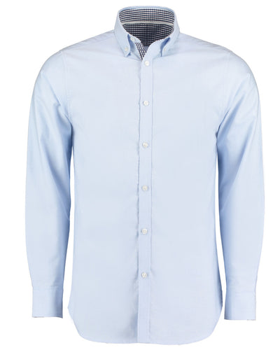 KK145 Clayton & Ford Long Sleeve Contrast Oxford Shirt