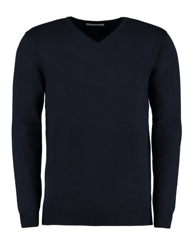 KK352 Kustom Kit Men's Arundel Long Sleeve V-Neck Sweater