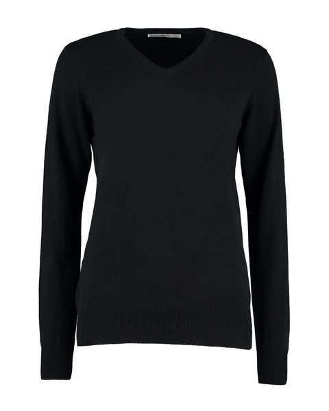 KK353 Kustom Kit Ladies' Arundel Long Sleeve V-Neck Sweater