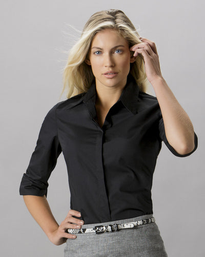 Kustom Kit Ladies' Continental 3/4 Sleeve Blouse