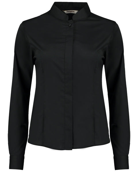 KK740 Bargear Ladies' Long Sleeved Mandarin Collar Bar Shirt