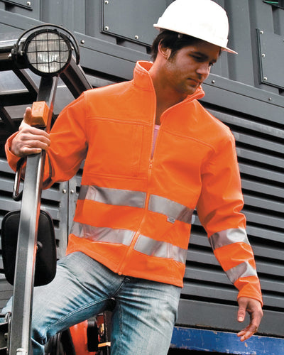 Result Safeguard Hi-vis Tech Soft Shell Jacket