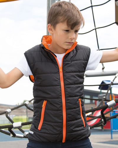 R223X Result Core Childrens Nova Lux Padded Bodywarmer