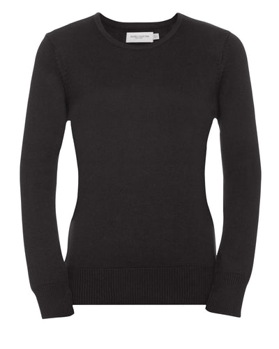 R717F Russell Collection Ladies' Crew Neck Knitted Pullover