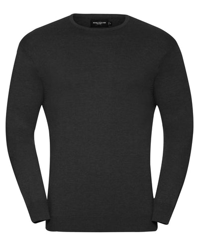 R717M Russell Collection Men's Crew Neck Knitted Pullover