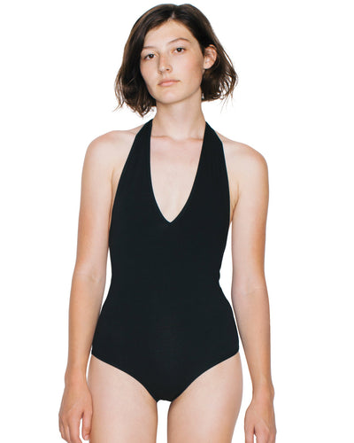 RSA8312W American Apparel Women's Cotton Spandex Halter Bodysuit